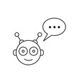 chatbot face outline icon vector image vector image