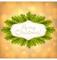 Christmas golden shiny background vector image vector image