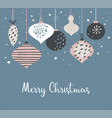 christmas poster and card template with retro vector image vector image