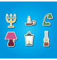 color icons with different lamps vector image vector image