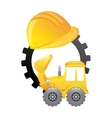 construction machinery isolated icon design vector image vector image