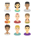 cool avatars different nations people portraits vector image vector image