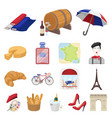country france cartoon icons in set collection for vector image vector image