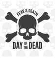 Day of the dead print Skull and bones logo or vector image vector image