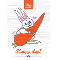 day rabbit vector image vector image