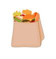 delicious fast food menu in shopping bag vector image vector image