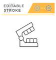 dental mold editable stroke line icon vector image vector image