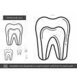 Dental pulp line icon vector image vector image