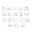 Different Type Of Hand Drawn Charts Set vector image vector image