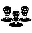 engineers team icon sign o vector image vector image