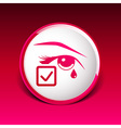 Eye with tears eye isolated sign symbol icon vector image vector image