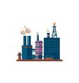 factory buildings vector image vector image