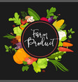 farm product vegetables fresh organic spice herb vector image vector image