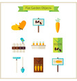 Flat Garden Objects Set vector image