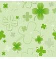 Four Leaf Clover Pattern vector image vector image