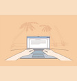freelance coding communication remote work vector image vector image