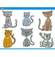 funny cartoon cats characters set vector image vector image