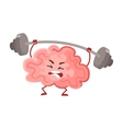 Funny concentration brain training with a barbell vector image vector image