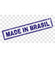 grunge made in brasil rectangle stamp vector image vector image