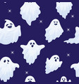 halloween ghost characters seamless pattern vector image vector image