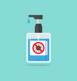 hand sanitizer pump bottle with virus sign caution vector image vector image