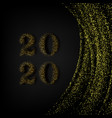 happy new year 2020 - new year shining background vector image
