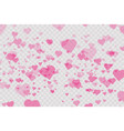 heart confetti falling down isolated valentines vector image vector image