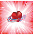 heart love card vector image vector image