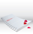love letter paper vector image vector image
