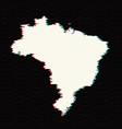 map brazil isolated black on vector image vector image