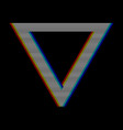 mobilevhs glitch triangle in retro style geometry vector image vector image