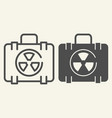 nuclear case line and glyph icon nuclear safety vector image vector image