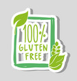 one hundred percent gluten free food vector image