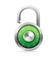Opened Lock Security Concept padlock vector image vector image