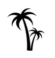 palm trees silhouette emblems vector image