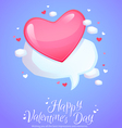 Romantic comic speech bubble with pink heart vector image vector image