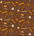 seamless bakery background with cartoon sweets vector image
