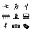 set ballet monochrome icons with - ballet vector image