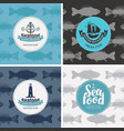 set banners for seafood shop and vector image vector image