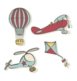 set flying icons vector image