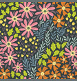 simple wild flowers pattern 02 vector image