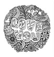 vintage lettering i love you vector image