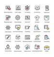 web and seo flat icons set vector image vector image