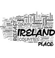 what do you need to know about ireland travel vector image vector image