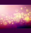 yellow violet soft bokeh background vector image