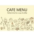 Menu Cafe Coffee drinks banner vector image