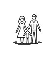 young family child and parents mother father kid vector image