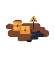 Nuclear waste vector image