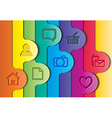 Abstract colorful layout vector image vector image