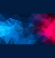 abstract irregular polygonal background blue pink vector image vector image